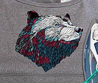 Аппликация, наклейка на ткань Медведь [7 размеров в ассортименте]