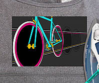 Наклейка на ткань Велосипед [7 размеров в ассортименте]