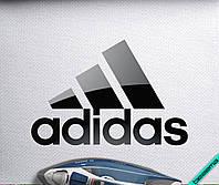 Наклейка на ткань логотип Adidas [7 размеров в ассортименте] 6.74, Печатная, 10