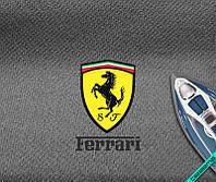 Наклейка на ткань логотип Ferrari [7 размеров в ассортименте]