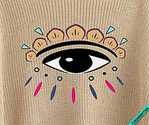 Термонаклейки на куртки глаз логотип [7 размеров в ассортименте]