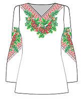 Блузка жіноча заготовка для вишивки бісером, нитками