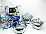 Набор из 3-х кастрюль(нержавейка) со стеклянной крышкой продам постоянно оптом и в розницу,Харьков, фото 2