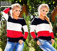 Яркий полосатый вязаный свитер. Турция. Арт-9161/13