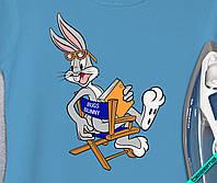 Аппликация, наклейка на ткань Bugs Bunny режиссер [7 размеров в ассортименте]