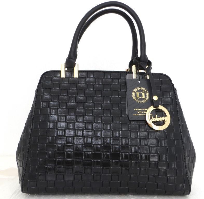 Стильная женская сумка. Эко-кожа Италия Черная
