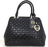 Стильная женская сумка. Эко-кожа Италия Синяя, фото 6