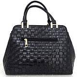 Стильная женская сумка. Эко-кожа Италия Синяя, фото 7