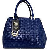 Стильная женская сумка. Эко-кожа Италия Черная, фото 6