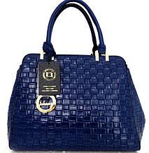 Стильная женская сумка. Эко-кожа Италия Синяя