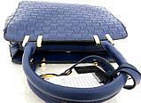 Стильная женская сумка. Эко-кожа Италия Синяя, фото 5