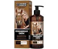 Лошадиная сила шампунь для окрашенных и поврежденных волос с коллагеном, ланолином, биотином и аргинином 500 м