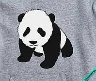 Аппликация, наклейка на ткань Панда [7 размеров в ассортименте]