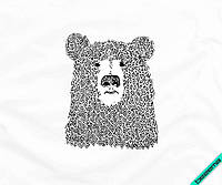 Рисунки на сабо Mедведь [7 размеров в ассортименте]