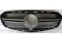 Решетка радиатора Mercedes W212 рестайл Avantgarde в стиле AMG серебряная
