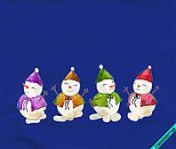 Наклейка на ткань снеговики [7 размеров в ассортименте]