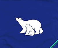 Наклейки для бизнеса на накидки белые медведи [7 размеров в ассортименте]
