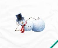 Рисунки для бизнеса на сатин снеговик [7 размеров в ассортименте]