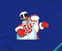 Наклейка на ткань Дед Мороз [7 размеров в ассортименте]