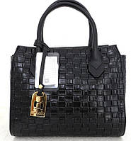 Стильная женская сумка. Эко-кожа Италия Черная, фото 1
