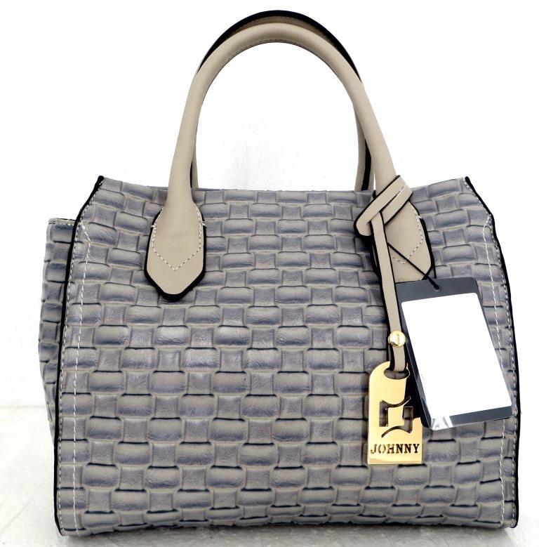 Стильная женская сумка. Эко-кожа Италия  Серая