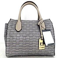 Стильная женская сумка. Эко-кожа Италия  Серая, фото 1
