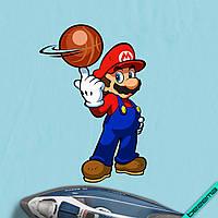 Аппликация, наклейка на ткань Марио с мячом [7 размеров в ассортименте]