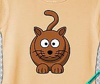 Наклейка на ткань Кошечка [7 размеров в ассортименте]