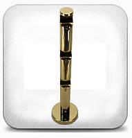 Кронштейн тройной цилиндрический д.16мм золото