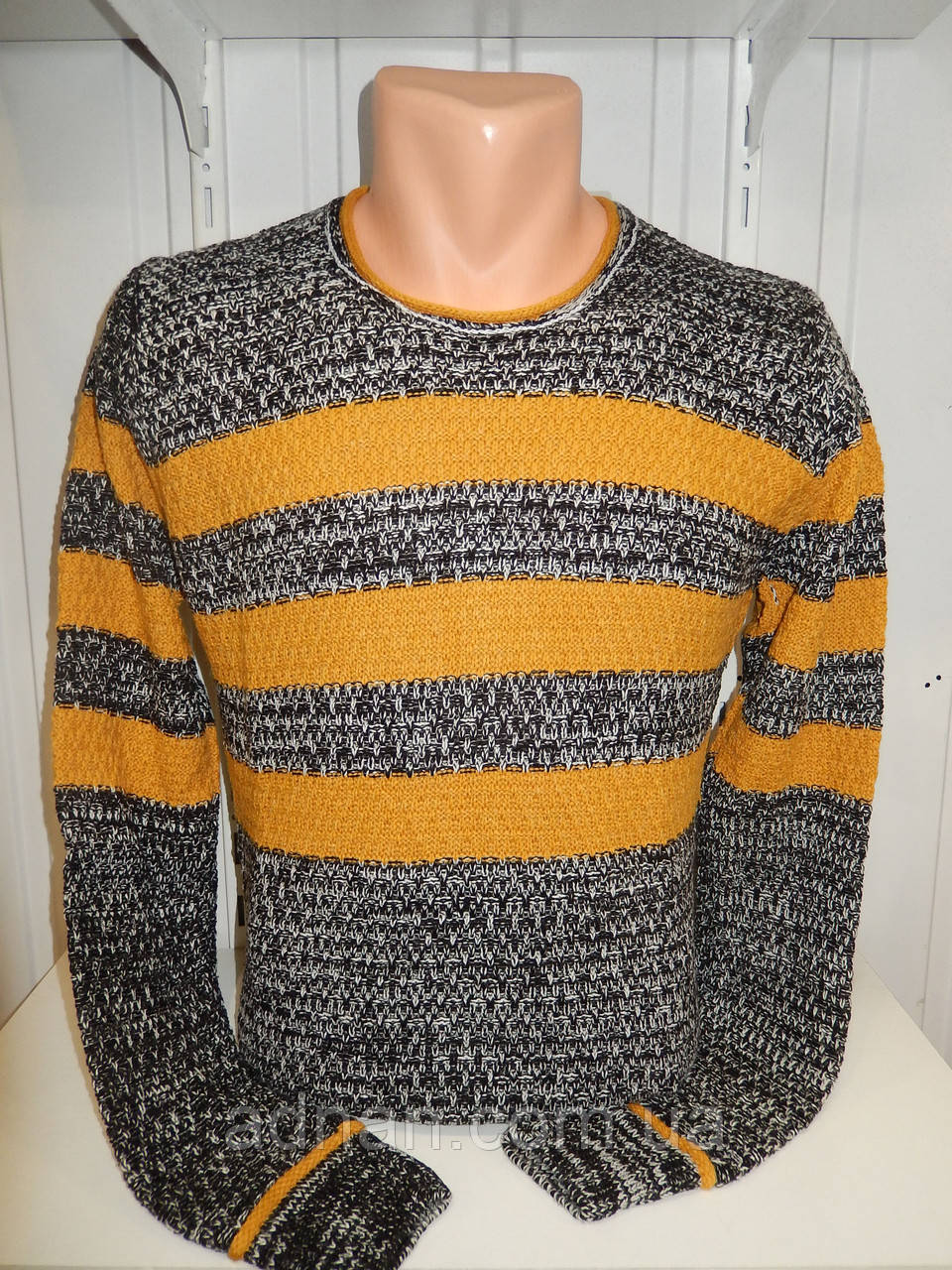 Свитер зимний ROT полосы 004/ купить оптом свитер зимний