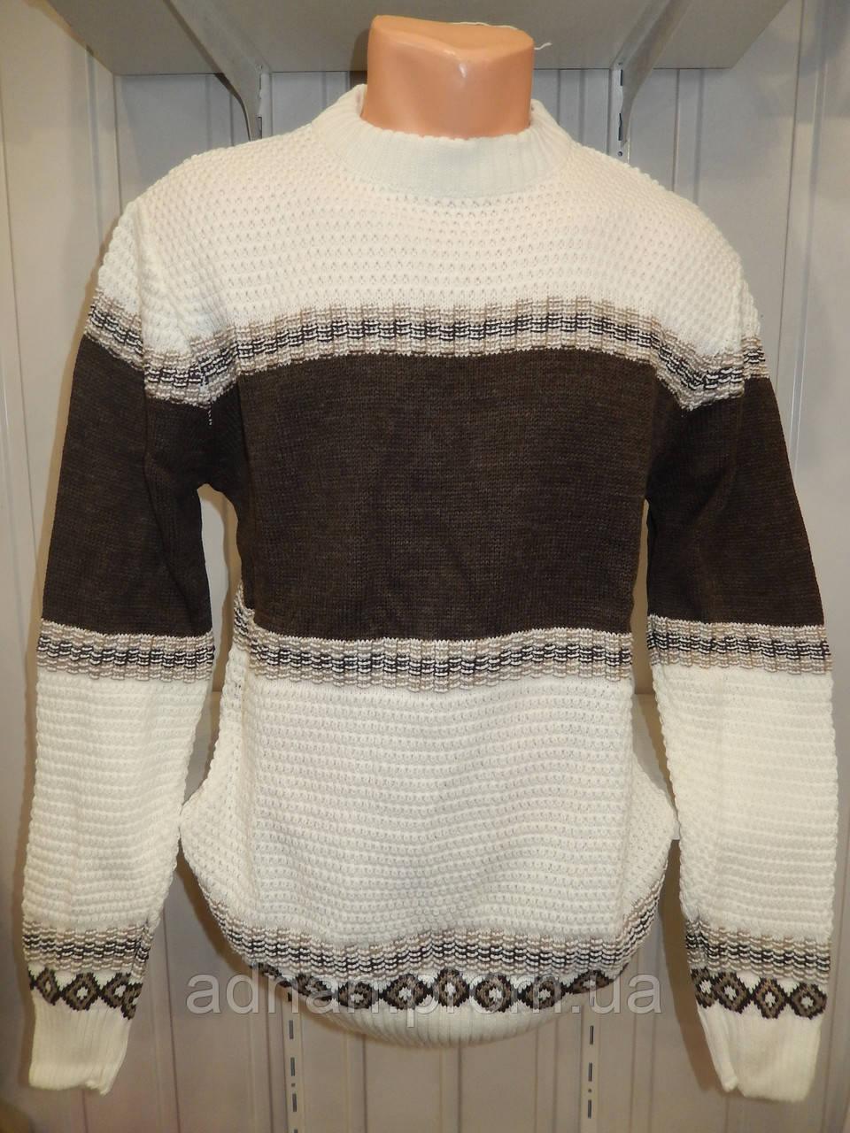 Свитер зимний ROT орнамент 001/ купить оптом свитер зимний