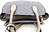 Стильная женская сумка. Эко-кожа Италия  Серая, фото 4
