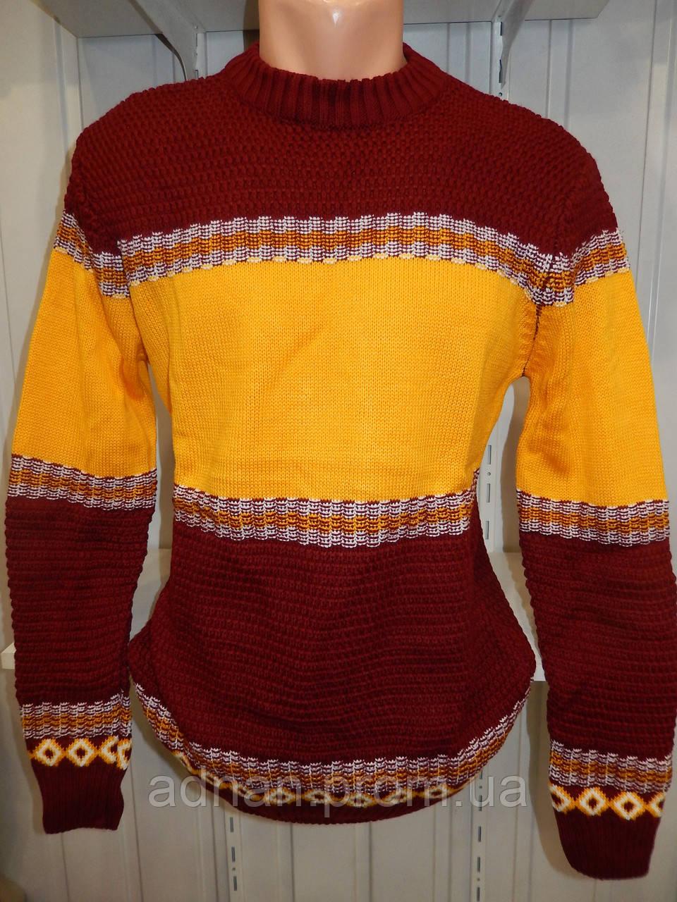 Свитер зимний ROT орнамент 006/ купить оптом свитер зимний