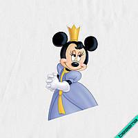 Термопечать для бизнеса на хлопок Минни принцесса [7 размеров в ассортименте]