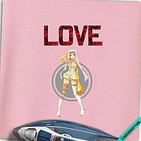 Аплпикации, латки на пальто Love девочка-аниме [7 размеров в ассортименте]
