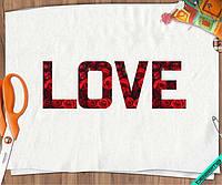 Термоперевод для бизнеса на топы Love розы [7 размеров в ассортименте]