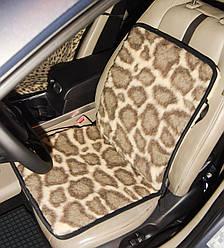 """Накидки на сиденья автомобиля из овчины """"Eluna"""" (леопард крупный)"""