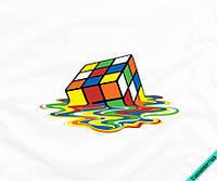 Наклейка на ткань Кубик-Рубик [7 размеров в ассортименте]