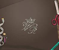 Термоаппликации для бизнеса на челочно-носочные изделия Корона  (Стекло,3мм-бенз.)