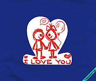 Наклейка на ткань I love you [7 размеров в ассортименте]