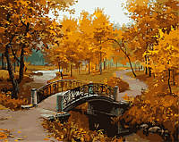 Раскраски по номерам 40 × 50 см. Мост в осеннем парке Художник - Евгений Лушпин.