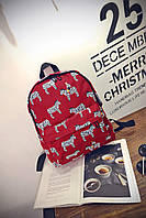 Бордовый городской рюкзак Зебры, фото 1
