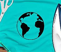 Термопринт на воротники планета Земля [7 размеров в ассортименте]