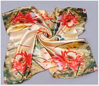 Цветочный шифоновый платок, фото 1