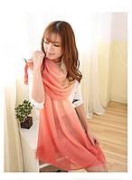 Розовый шарф Градиент, фото 1