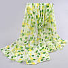 Шифоновый шарф с Зелеными каплями