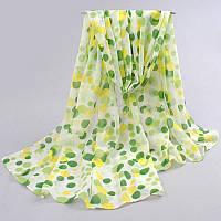 Шифоновый шарф с Зелеными каплями, фото 1