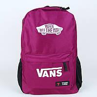 Бордовый спортивный рюкзак ванс, vans , фото 1