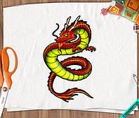Наклейка на ткань Дракон [7 размеров в ассортименте]