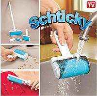 Набор силиконовых щеток - валиков для уборки Schticky